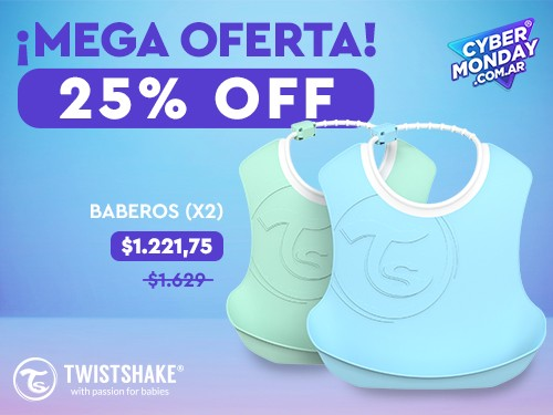 Baberos Twistshake x2 - 4+meses