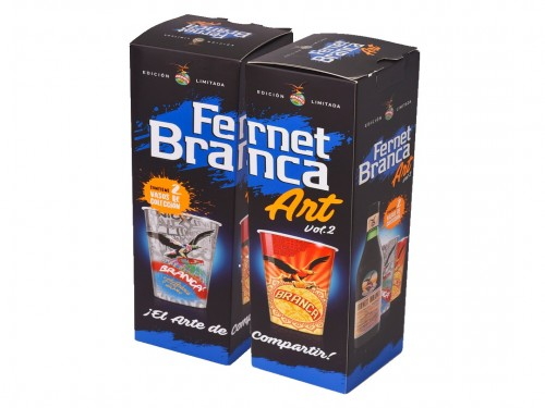 Combo Fernet Branca ART Vol 2 (2 bot 750 +4 vasos 500cc) Envío gratis