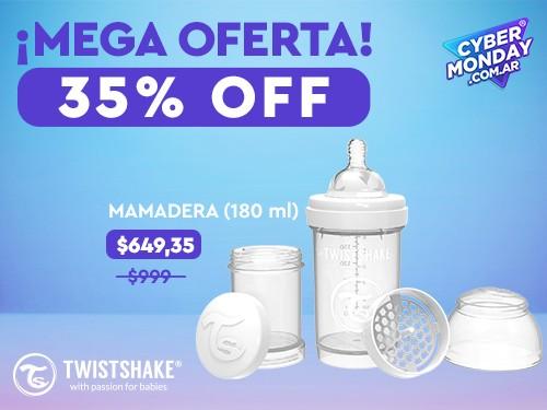 Mamadera Twistshake Anti-Cólicos 180ml 0+meses