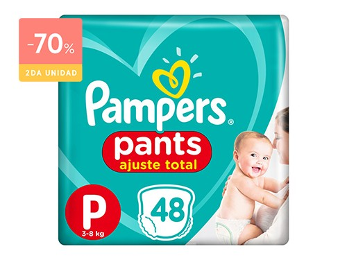 PAMPERS PAÑALES CONFORT SEC PANTS TALLE P