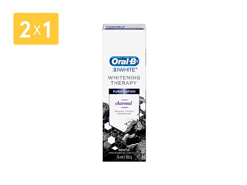 ORAL B CREMA DENTAL 3D WHITE THERAPY CHARCOAL 102 GR