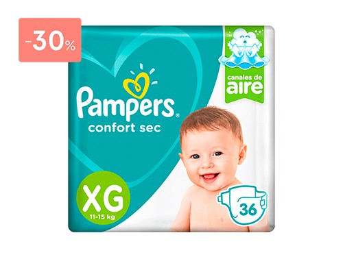 PAMPERS PAÑALES CONFORT SEC PODS TALLE XG