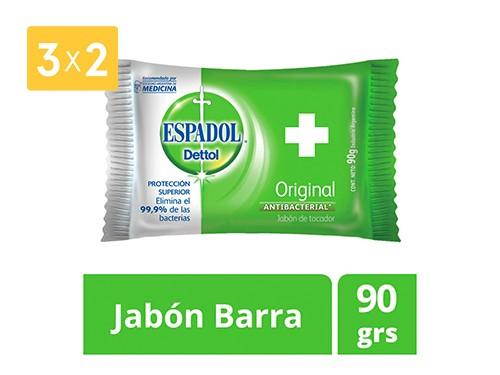 ESPADOL JABÓN DE TOCADOR ANTIBACTERIAL ORIGINAL 90 GR