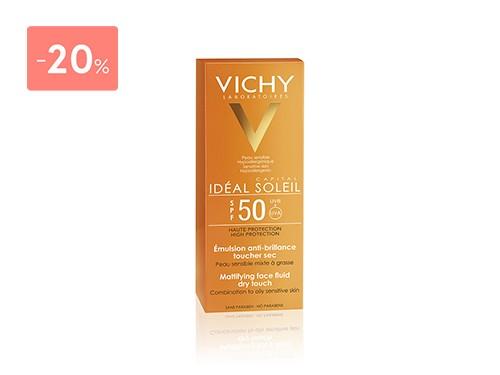 VICHY IDEAL SOLEIL CREMA ROSTRO TOQUE SECO FPS50 50ML