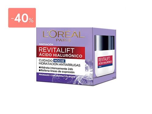 LOREAL DERMO EXPERTISE REVITALIFT NOCHE ACIDO HIALURONICO 50 ML
