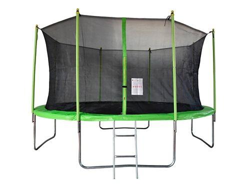 Cama elastica 426 cm Verde TR-14 Con Escalera