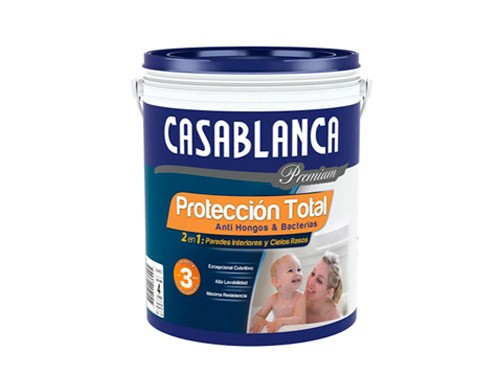 Látex interior Mate Blanco x 20 lts Protección Total Casablanca