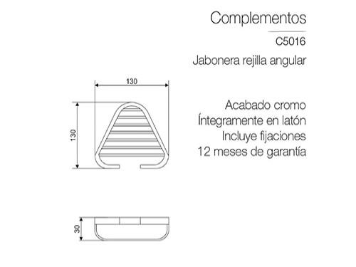 Jabonera Baño Piazza De Pared Angular Cromada Rejilla Ducha 4/4