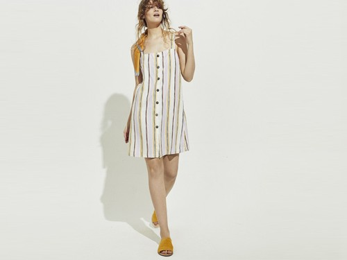 Vestido Lino Stripes Varadero Portsaid