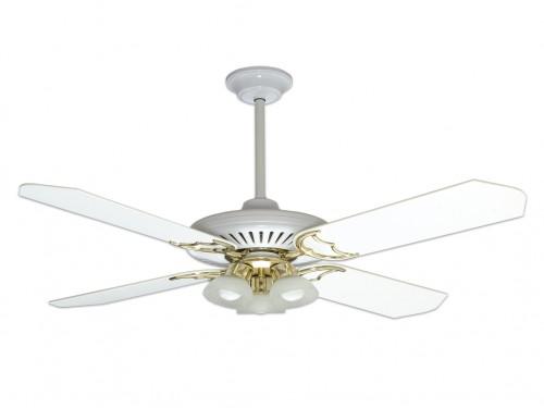 Ventilador Techo Blanco - PALAS DE MADERA - V1BL Codini