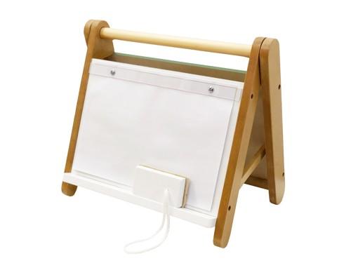 Mini Pizarra de mesa para tiza/imán, marcadores y hojas A4.