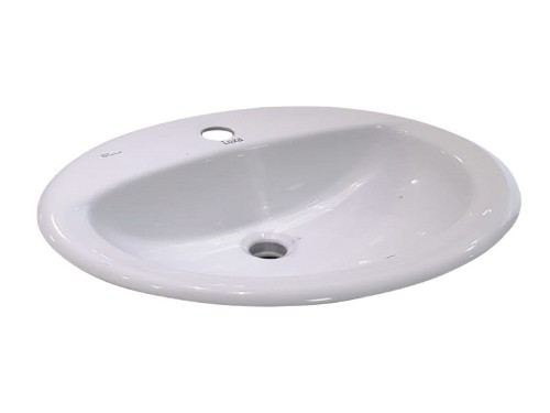 Bacha Baño loza 53x45 blanca 1 agujero