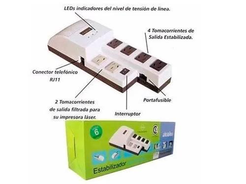 Estabilizador Atomlux 1000va C/filtro Linea+prot P/inter R1000@