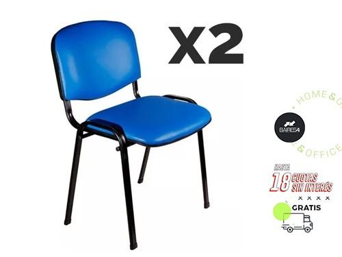 Pack x 2 Sillas Tapizadas Apilables BAIRES4