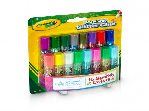 Adhesivo Mini Glitter Crayola X 16 Colores