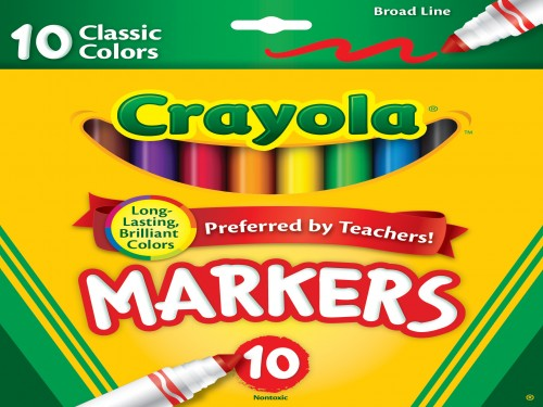 Marcadores Jumbo x 10 Punta Cónica Crayola