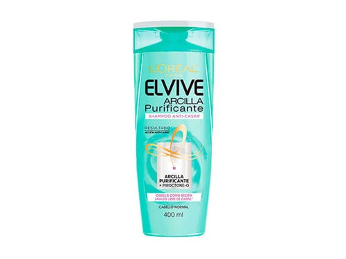 Shampoo Anti-Caspa Arcilla Purificante Elvive Loreal Paris X 400 Ml