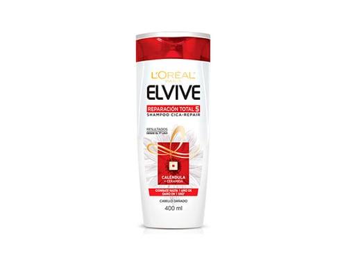 Shampoo Reparacion Total 5 Elvive Loreal Paris X 400 Ml