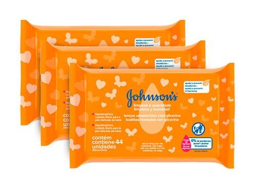 Toallitas Húmedas Limpieza Y Suavidad Johnson's 44u - Lleva 3x2