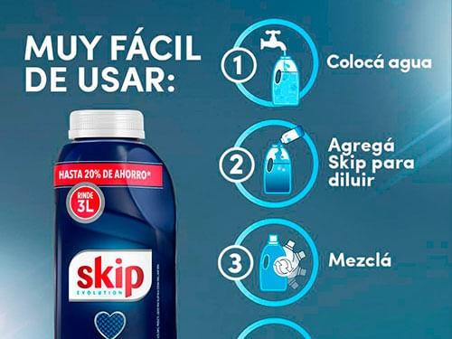 Jabón Liquido Skip Para Diluir X500ml Con Botella
