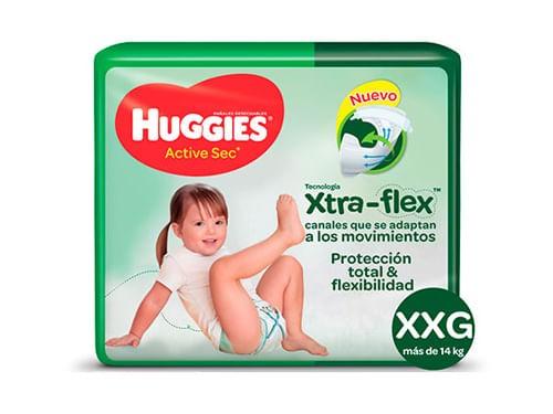 Pañales Huggies Active Sec Mega Xxg17un