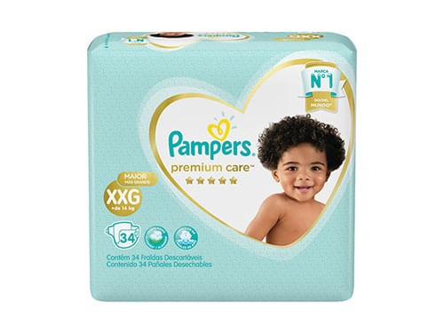 Pañales Pampers Premium Care Xxg 34 Unidades