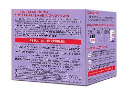 Crema Hidratacion Facial Loreal Revitalift Exp Hialuro Dia 50ml
