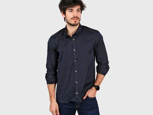 Camisa Azul Lacoste