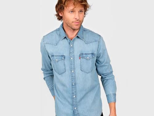Camisa Celeste Levi's Classic Western Standard