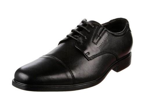 Zapato Negro Stork Man Tobias de Cuero