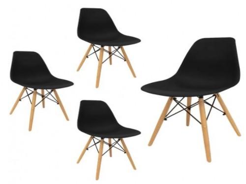 Set De 4 Sillas Eames Negras - Desillas