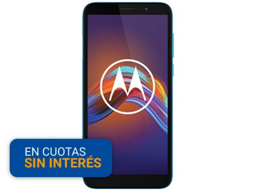 """Celular Libre Motorola E6 Play 5.45"""" 2/32 13MP Azul"""