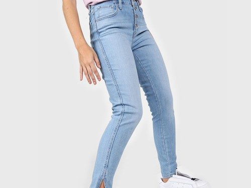 Jean Celeste Levis 721 Exposed Buttons Ankle