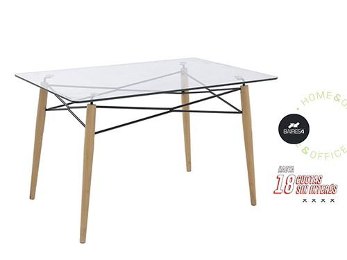 Mesa de Comedor de Vidrio 120x80 BAIRES4