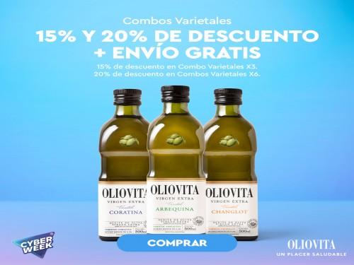 Aceite de Oliva virgen extra Oliovita - Combo Varietales x3