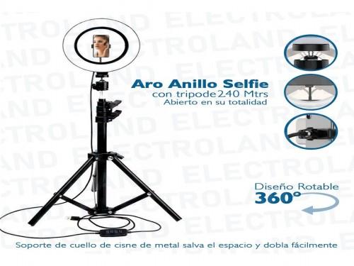 Aro Anillo Selfie Luz Led Trípode 1.88m Ring Light Celular