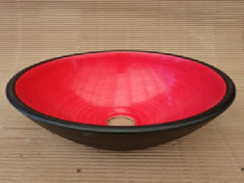 Bacha Elíptica Rojo Negro Fango