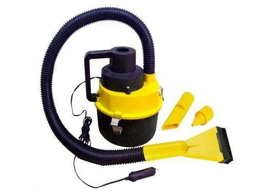 Aspiradora Para Autos Vehiculos de 12 Volt Color Amarilla y Negro