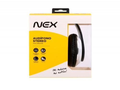 AURICULARES STEREO ON EAR BLANCO NEX