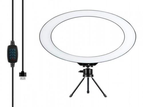 Aro Anillo Selfie Luz Led Tripode 34.5cm Ring Light Usb