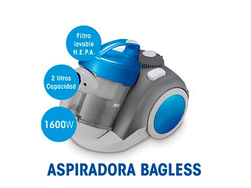 Aspiradora As-3224 1600w 2 Litros Filtro Hepa Yelmo