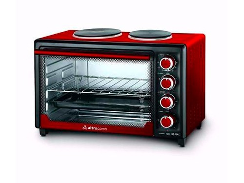 Horno Eléctrico Uc-40ac Doble Anafe 40lts Rojo Ultracomb