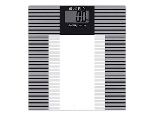 Balanza Digital Aspen Antideslizante 180kg Vidrio Templado