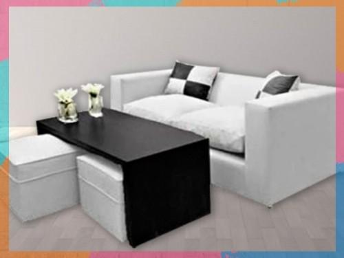 sillón, almohadones, mesa puente y puffs ¡Renová tu casa!