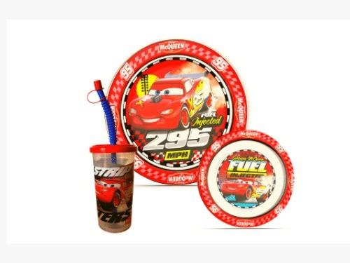 Set Promoción Cars: Plato + Vaso Sport + Bowl