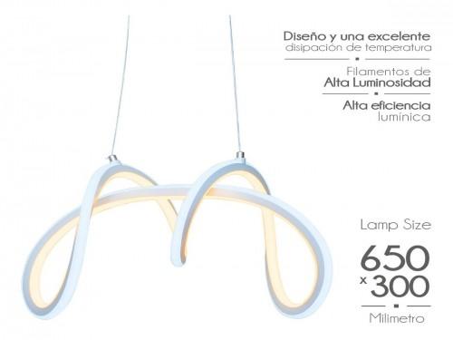 Lampara Led Diseño Elegante Colgante 100w Calida /fria Mixta