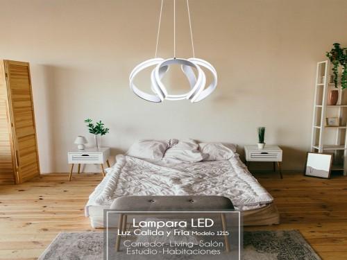 Lampara Led Diseño Elegante Colgante Led 120w Calida / Fria