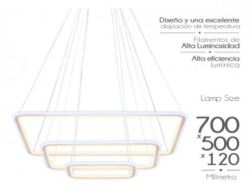 Lampara Led Diseño Elegante Colgante 150w Calida /fria Mixta