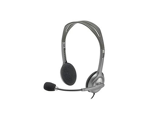 Auricular Con Microfono Pc Logitech H111 Mini Plug 3,5 Conec