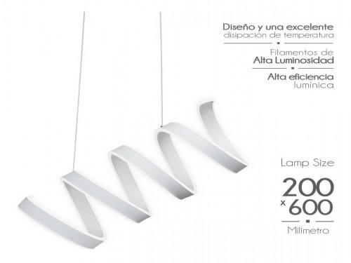 Lampara Diseño Elegante Colgante Led 100w Calida / Fria